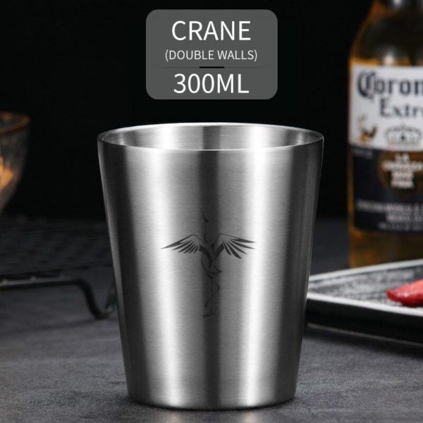 WORTHBUY Cute Pattern Beer Mug 304 Stainless Steel Beer Cup Coffee Mug With Double Wall Kitchen Drinkware For Kids Water Mug