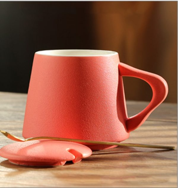 Laser Engraving With Lid and Spoon Frosted Mug Coffee Tea Cup