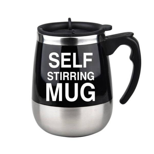 450ml Self Stirring Mug Automatic Mixing Mug for Coffee Milk Grain Oat Stainless Steel Thermal Cup Double Insulated Smart Cup