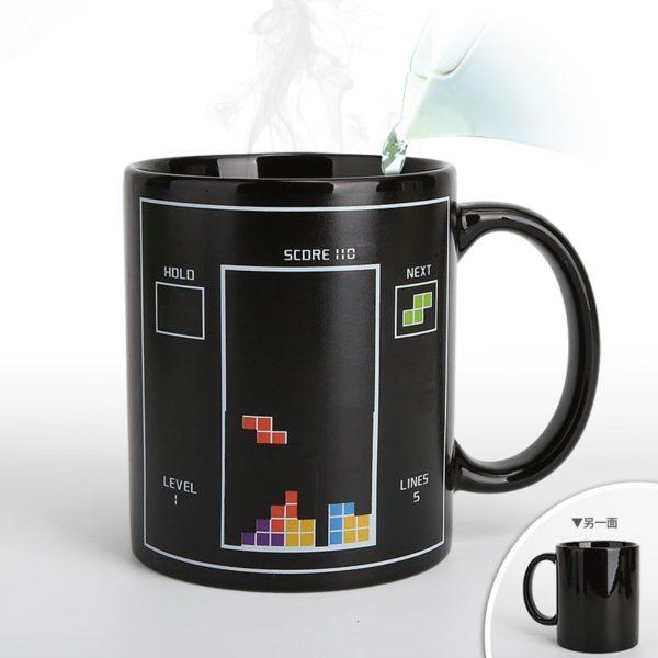 Tetris Color Changing Ceramic Mug