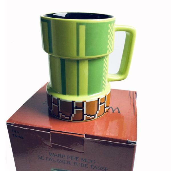 Creative cartoon Super Mario apertures mug pixel mug cup coffee cups