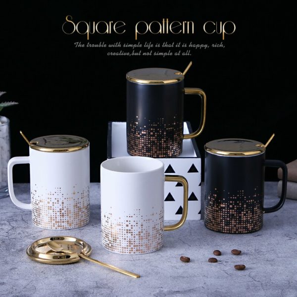 OUSSIRRO European ceramics mug Retro style coffee mugs Couple creative Ceramic cup Christmas gift