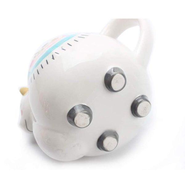 Alpaca Mug Ceramic Llama Tea Mug, 3D Animal Coffee Mug Hand Painted Rainbow Creative Art Travel Mug Gift for Birthday Christmas