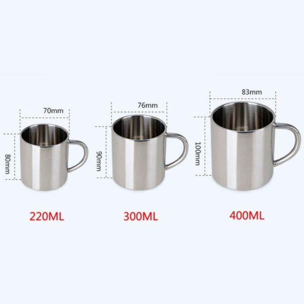 Double wall stainless steel coffee cup 300ml portable Thermo travel mug coffee jug double milk tea cups Office water cups