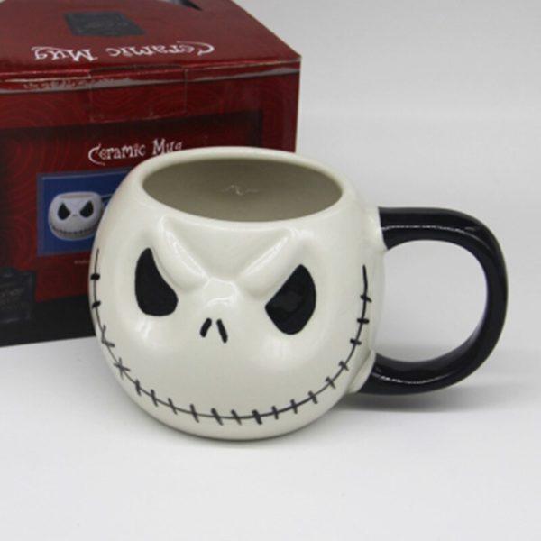 """New 1Pcs 500mL/700mL Jack Skellington Mug,""""The Nightmare Before Christmas"""" Cartoon Coffee Tea Milk Cup Skull Drinkware for Kids"""