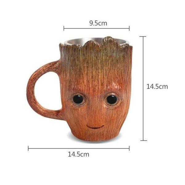 Groot Coffee Cup Gifts stainless steel cup creative cartoon beer mug Baby Cute Model cup