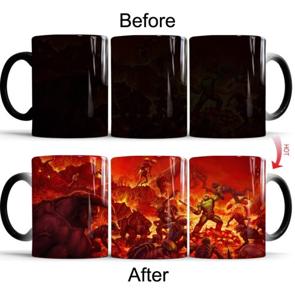 DOOM Game Color Changing Coffee Mug