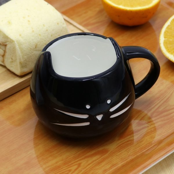 Ceramic Cute Cat Mugs With Spoon Coffee Tea Milk Animal Cups With Handle 400ml Drinkware Nice Gifts