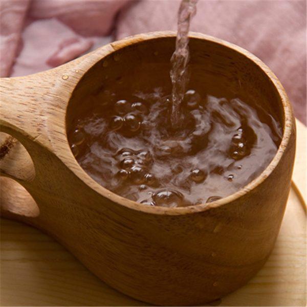 Japanese-style Wood Coffee Mug Portable Rubber Wooden Tea Milk Cups Drinking Mugs Drinkware Handmade Juice Lemon Teacup Gift