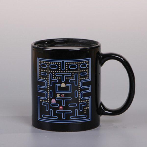 330ml Creative Color Changing Mug Gluttonous Snake game Heat Sensitive Cup Ceramic Drinkware For Tea Milk Coffee Mugs