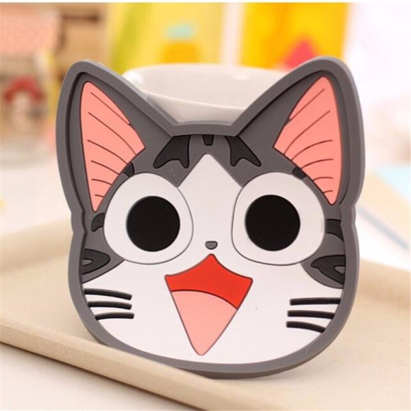 Cute Cartoon Animal Silicone Cup Coasters Coffee Mat Drink Pads Cup Cushion Tea Cup Holder Table Decoration & Accessories F0223
