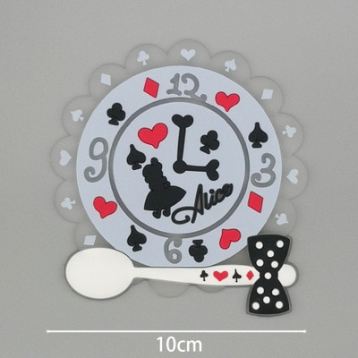 18styles Cartoon Non-slip cup coaster placemat for dining table Silicone Cup Drinks Holder Mat Tableware cup coaster placemat