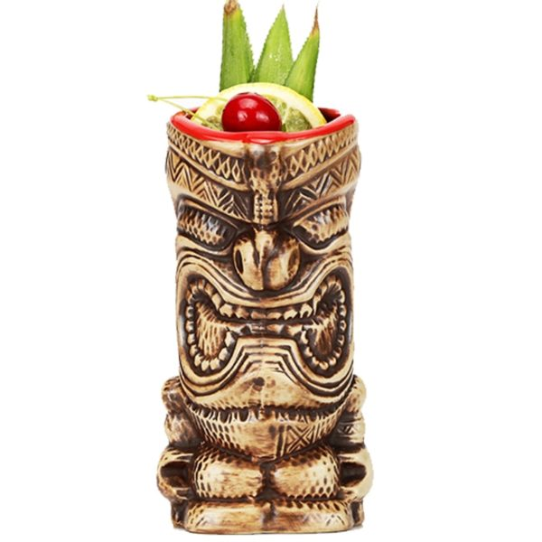 Hawaii Tiki Mugs Cocktail Cup Beer Beverage Mug Wine Mug Ceramic Ku.Ku.Kauioo Mug