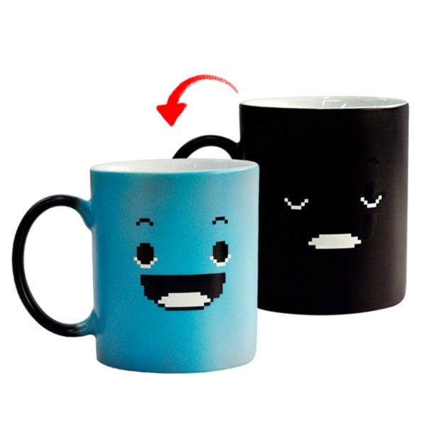 Creative Blue Smile Magic Mug Color Changing Cup Coffee Tea Milk Handle Cup Novelty Gifts 300ml