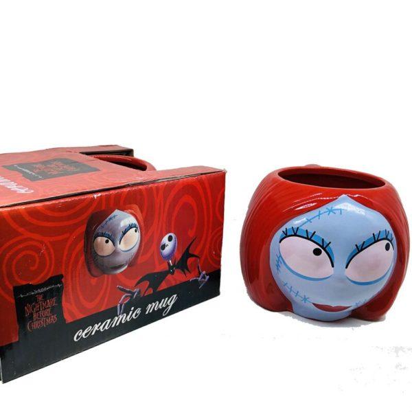 "Jack Skellington and Sally Coffee Mugs ""The Nightmare Before Christmas"" Cartoon Coffee Mug Skull Drinkware Tea Cup"