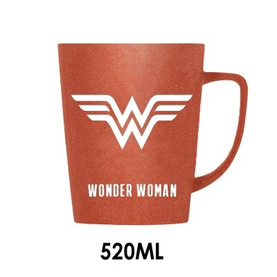 OUSSIRRO Super Hero Avenger Justice League Infinity wars Mugs With Wood Cover and Spoon Pure Color Mugs Cup Kitchen Tool Gift