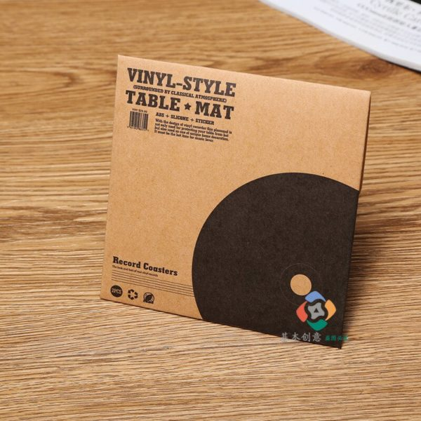 Cup Mat Vinyl Record Coasters Vintage CD Antiskid Insulation Mat coasters