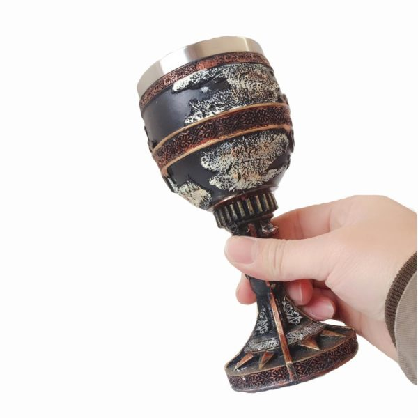 3D Dragon Wolf Map Dragon Throne King Resin Stainless Steel Goblets Coffee Mugs Drinkware Medieval Tankard