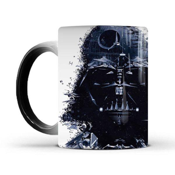 New Star Wars Mug Death Star Heat Reveal Mug Color Change Coffee Cup Sensitive Mugs Magic Mug Milk Tea Cups Best Gift for Friend
