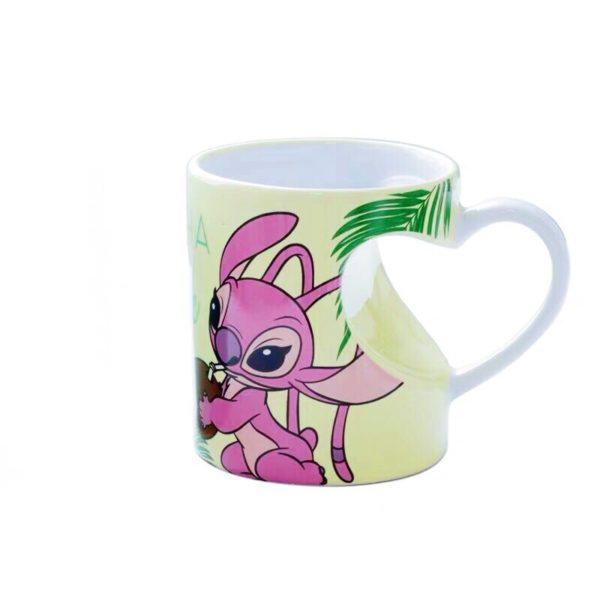 2 pcs Ceramic Mug Aloha means Love Cute Stitcher Stitch Cartoon Mug Couples Mugs Lilo & Stitch Milk Coffee Pair Mugs