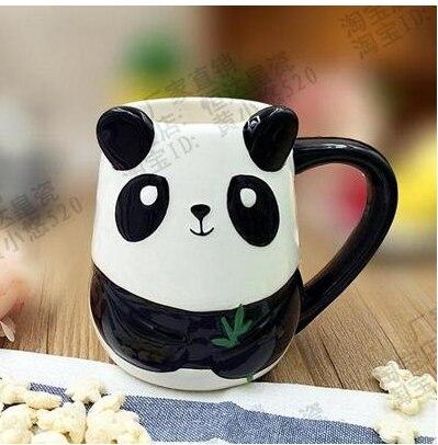 500ML Cute Animal 3D Fox Coffee Cup Large Capacity Hand Painted Cartoon Ceramics Breakfast Mug Free Shipping