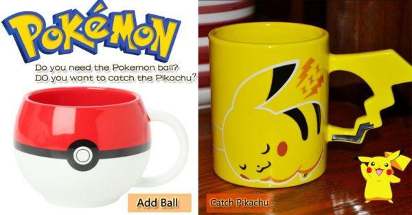 Cute Pokemon Go Poke Ball / Pikachu Mug