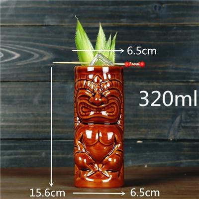 450ml Ceramic Tiki Mug Creative Porcelain Beer Wine Mug